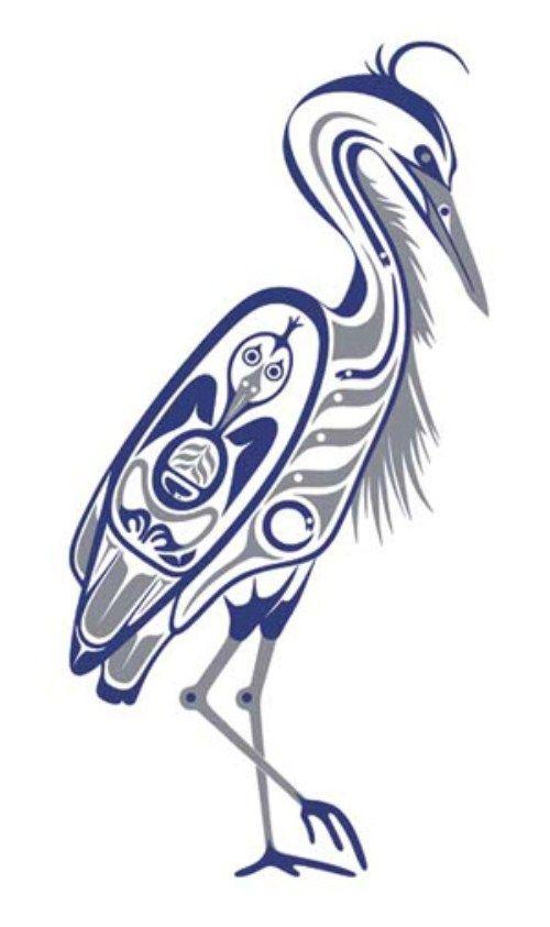 Native American Luck Symbols   Heron (500 x 843)