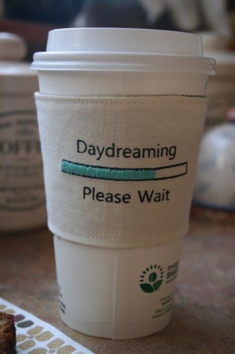 Daydreaming - Please Wait Daydreamers cup cozy