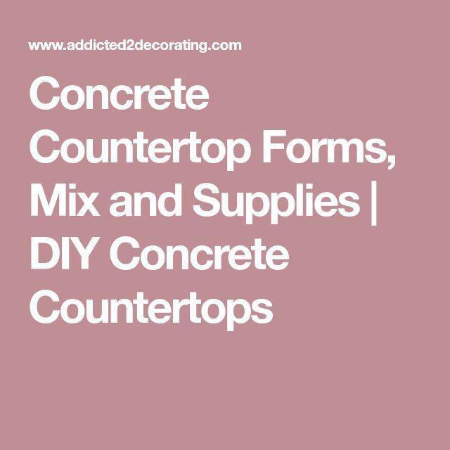 Concrete Countertop Forms, Mix and Supplies   DIY Concrete Countertops