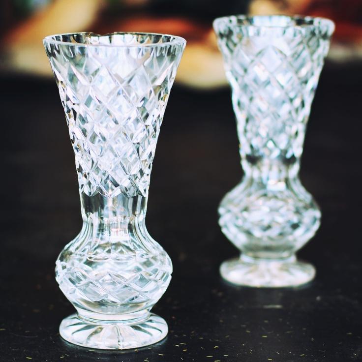 cut glass vases - beautiful