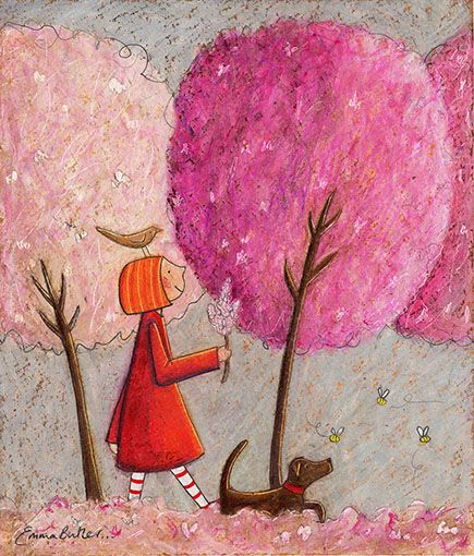 Blooming Lovely - another delightful Ruby artwork by Emma Louise Butler paper print available through imagevault.co.nz