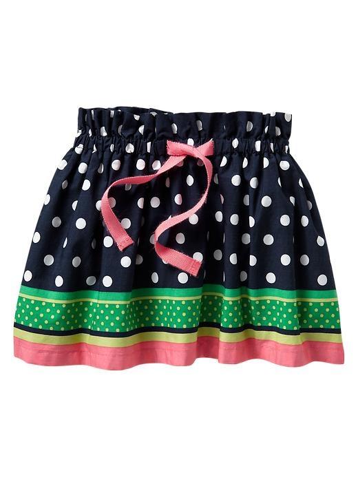 Gap Striped Dot Skirt