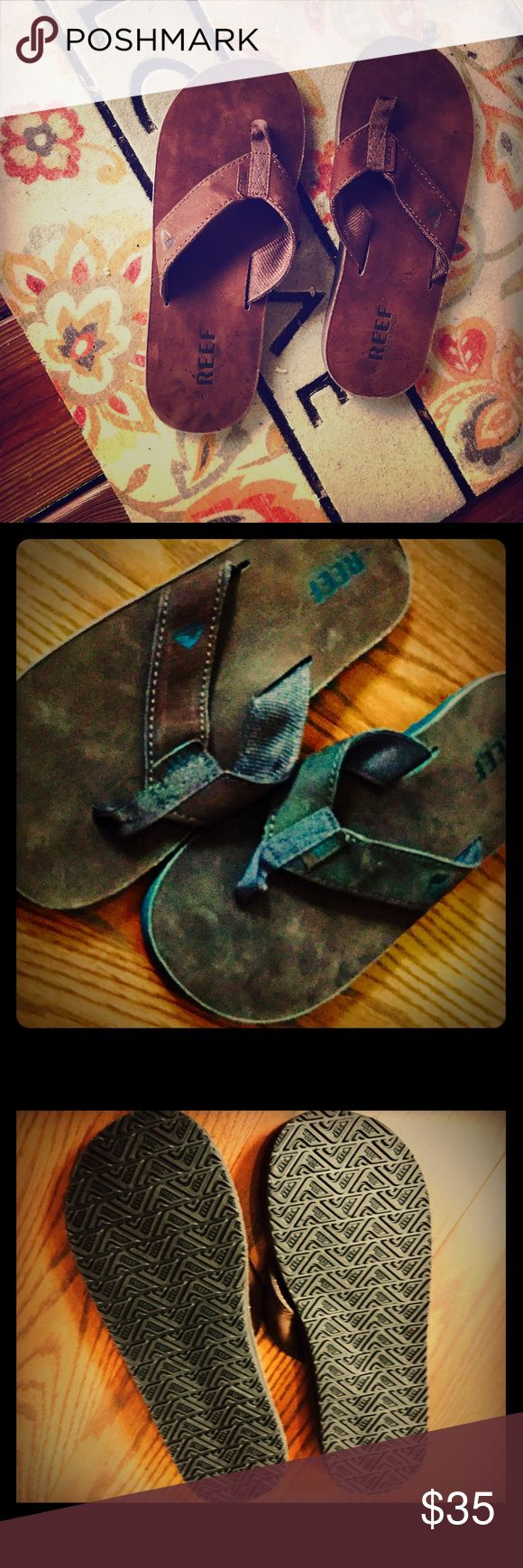 Men's (unisex?) REEF Flip Flops Brand New Size 9.5  Bought for my hubs - too small Reef Shoes Sandals