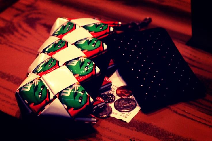 Candy Wrapper mini clutch