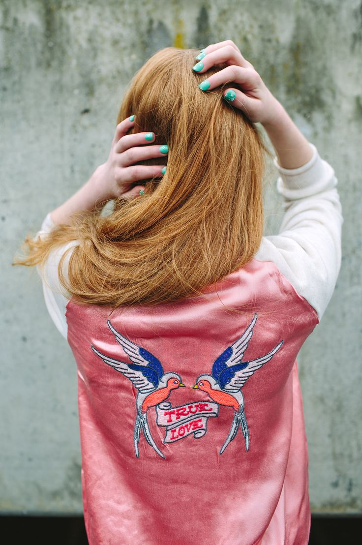 Trend jacket of the season for kids fashion, the back embroidered retro bomber