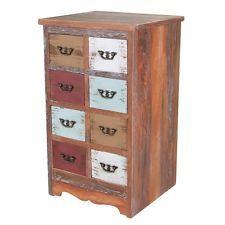 Fancy Vintage Holz Kommode Shabby Schubladen Sideboard Schrank Anrichte Standschrank