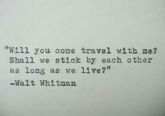 Stick by each other as long as we live.