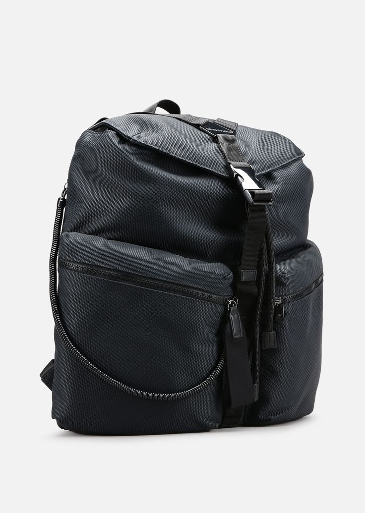 EMPORIO ARMANI CORDURA BACKPACK WITH ECO-LEATHER DETAILS Backpack U d