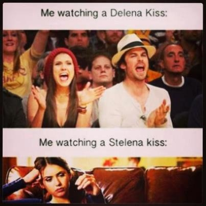 "Bahahaha! This could not be more accurate. I literally stare at the screen when Stefan and Elana kiss like, ""When will this end? Are we quite finished?"""