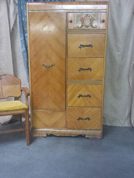 Hey, I found this really awesome Etsy listing at https://www.etsy.com/listing/218252628/art-deco-waterfall-wardrobe-with-drawers