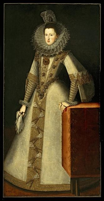 Juan Pantoja de la Cruz  Painting Title:Margaret of Austria 1584-1611 Queen of Spain, 1605