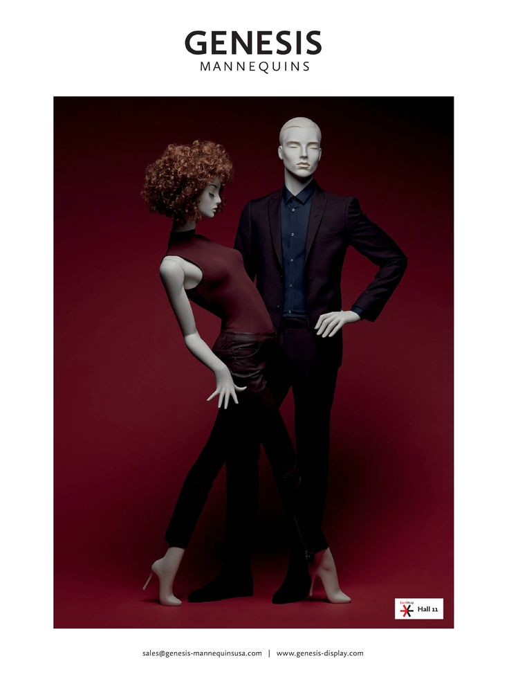 Check out our ad in the December issue of VMSD   Mannequins: Mood Female: http://www.genesis-display.com/en/collection/847/Mood%20Female   Mood Male: http://www.genesis-display.com/en/collection/848/Mood%20Male