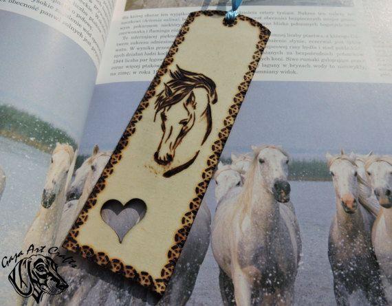 Horse head wooden bookmark