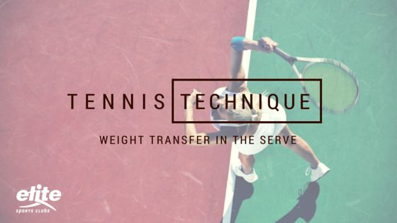 I often get questioned about tennis technique, specifically the importance of weight transfer as it relates to the serve. To illustrate the technique, I tend to relate the weight transfer in a serve to a pitcher in baseball.