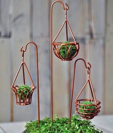 Miniature Garden Hanging Baskets