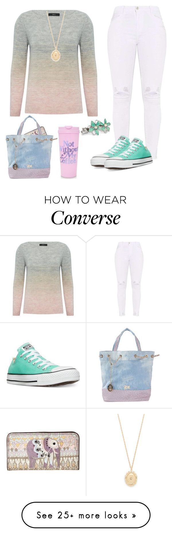 """Pastels"" by camrynmarie22 on Polyvore featuring M&Co, Sakroots, Jennifer Zeuner, Converse, 1928, ban.do, Secret PonPon and pastelsweaters"