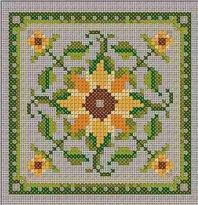 Sunflower Counted Cross Stitch