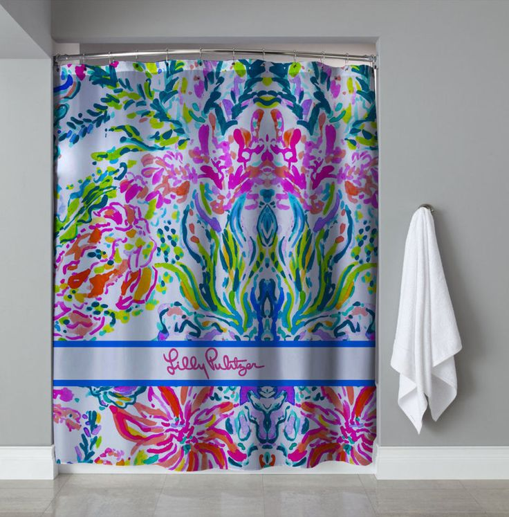 """New Hot Lilly pulitzer Coral Corolful Custom Design Shower Curtain 60""""x72""""  