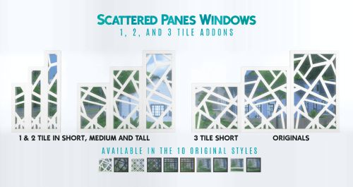 City Living Windows & Doors Addons for The Sims 4