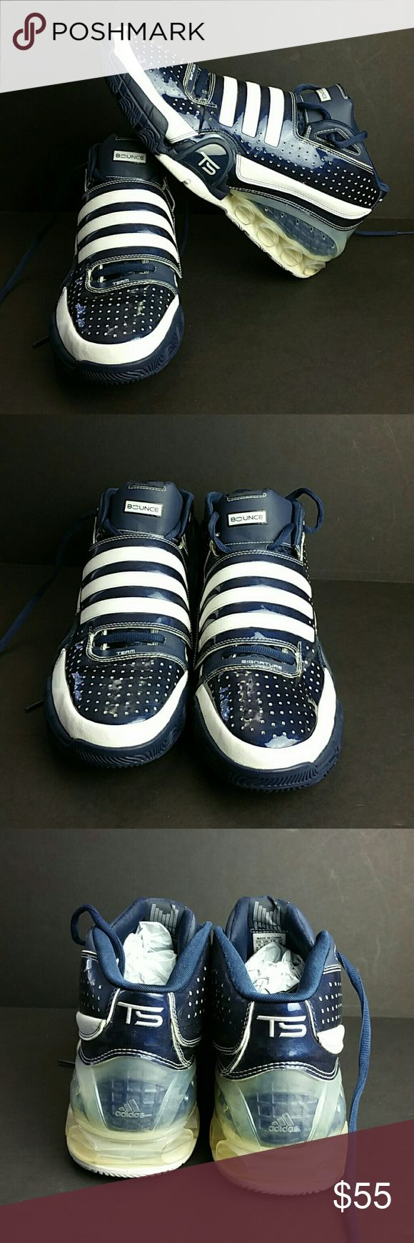 ADIDAS TS BOUNCE  SIGNATURE MEN'S SHOES VERY CLEAN INSIDE-OUT   SKE # KU5 ADIDAS Shoes Athletic Shoes