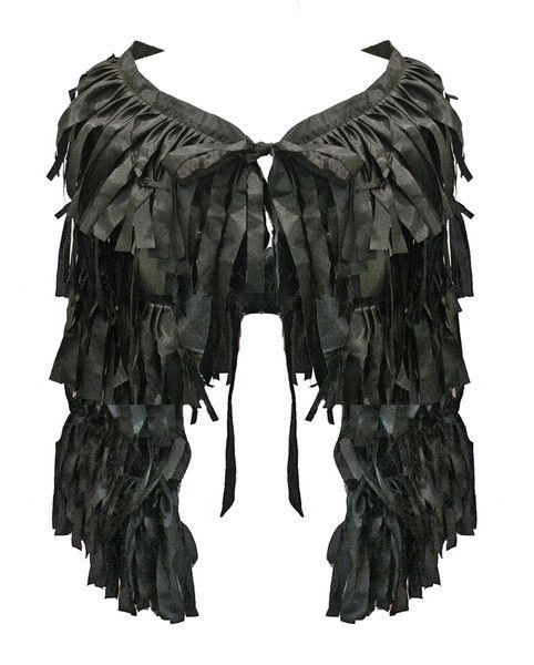 Fringed Flamenco Wrap - Black $119.95  #leethal #accessories #fashion