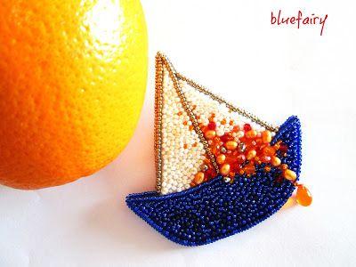 bluefairy art: Love Boat, broszka