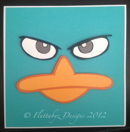 Perry the Platypus birthday card