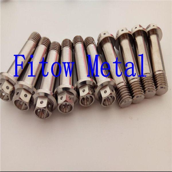 Titanium Alloy Motor Bike Car Hex Hole Flange Head M8 Ti Bolts Screw