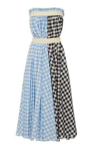 9f51cc3041ba1 Check Strapless Dress by Lee Mathews Resort 2019