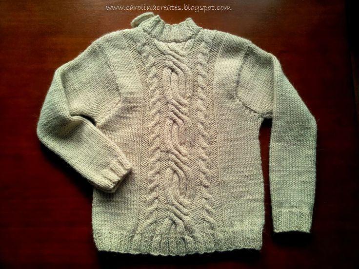 Carolina Creates - An owl Cable Sweater