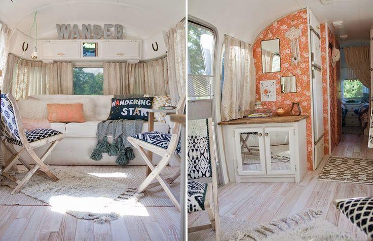 HOME & GARDEN: A renovated retro caravan
