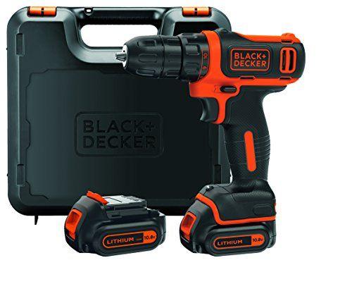 BLACK+DECKER BDCDD12KB-QW Perceuse-visseuse sans fil - 12V max (= tension nominale de 10,8V) - 1,5 Ah - Technologie Lithium-ion - Moteur ultra compact - 26 Nm - 10 positions - Capacité de perçage 25 mm (bois) et 10 mm (métal) - 2 batteries incluses - Chargeur 3h - Livrée en coffret #BLACK+DECKER #BDCDDKB #Perceuse #visseuse #sans #tension #nominale #Technologie #Lithium #Moteur #ultra #compact #positions #Capacité #perçage #(bois) #(métal) #batteries #incluses #Chargeur #Livrée #coffret