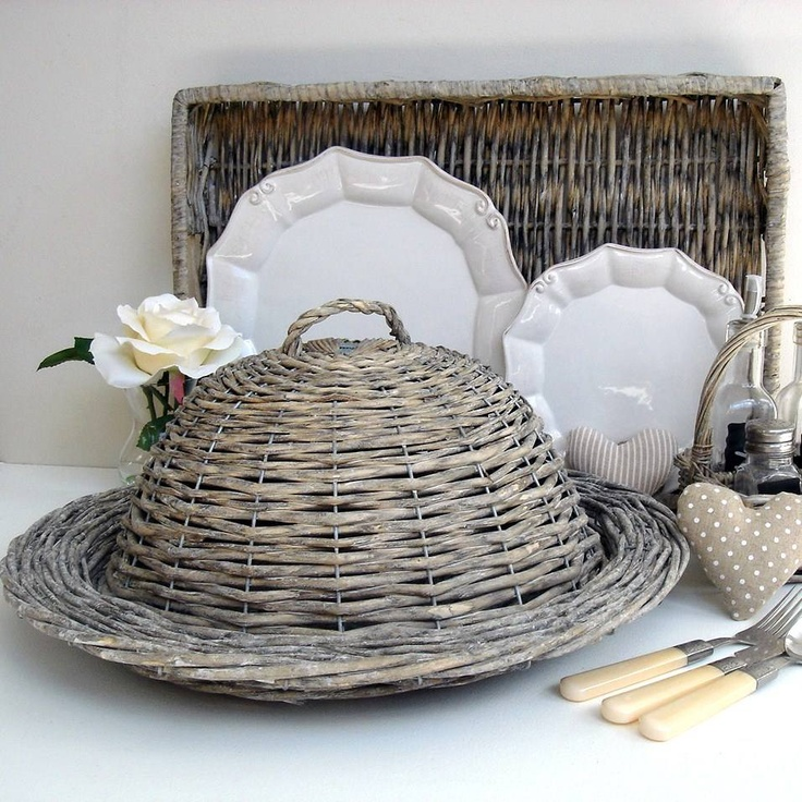 grey willow cloche and white French china