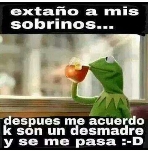 Aveces son tremendos los sobrinos!! #kermit #sobrinos #mexicanhumor