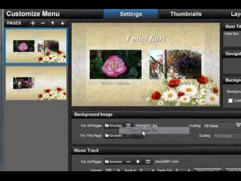 Menu e Masterizzazione DVD per TV Proshow 5 - YouTube