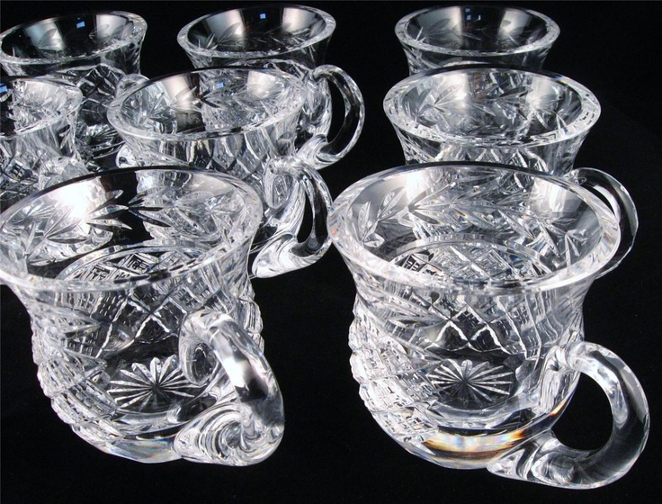 11 Vintage Waterford Crystal Glass Glandore Punch Cups Beauties Ebay Waterford Glass