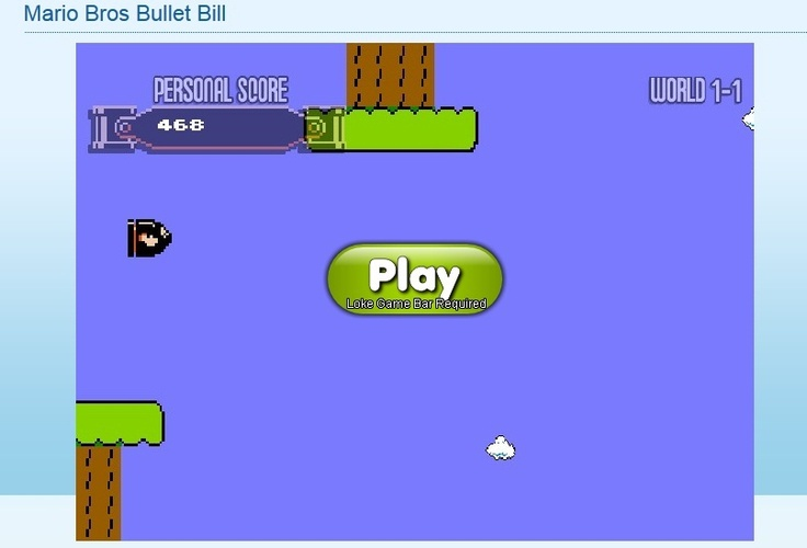 Guide super fast bullet bill until it hits Mario and Luigi in this exciting Mario Bros Bullet Bill free online game. Be quick and precise in controlling the bullet as there are multiple challenges on waiting for you.