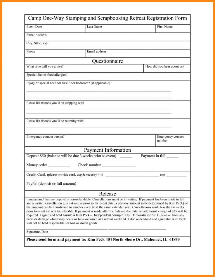 Perfect Registration Form Word Template Company Profile Format Application  Letterhead Sample School