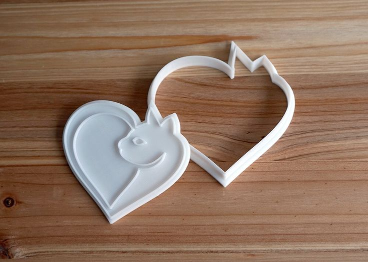 Cat with Heart Shape Cookie Cutter and Stamp by HBCookieCutters on Etsy https://www.etsy.com/listing/493674992/cat-with-heart-shape-cookie-cutter-and