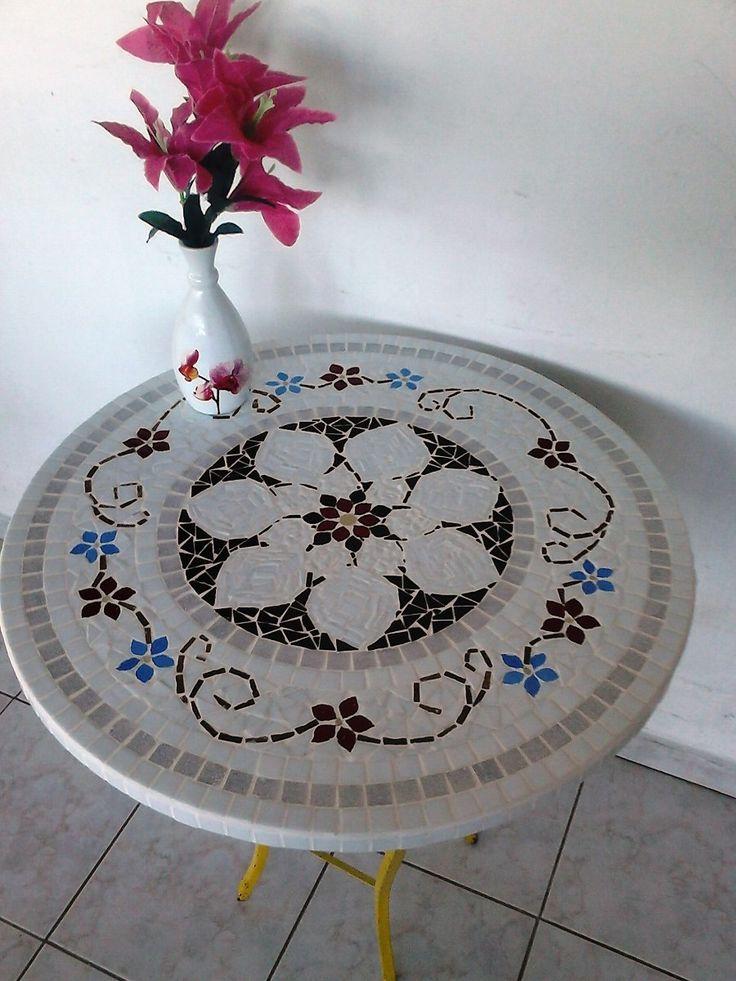 Tampo De Mesa Em Mosaico,diversas Cores E Modelos A Escolher - R$ 150,00 no…