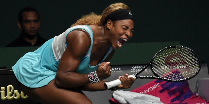 Serena Williams şi-a ieşit din minţi in semifinala de la Singapore