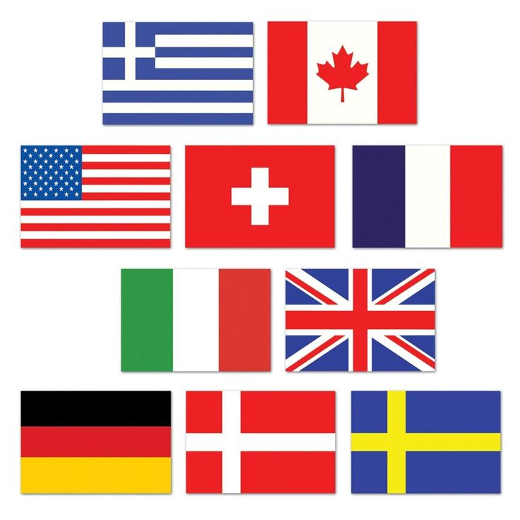 Club Pack of 240 Mini International Flags of the World Cutout Party Decorations 4.5, Multi
