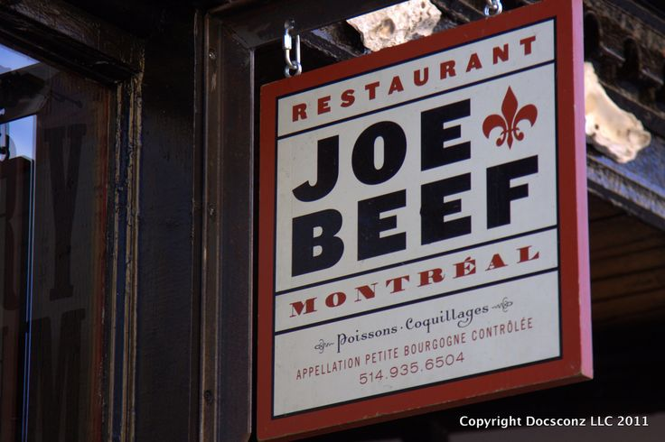 Grab some grub @ Joe Beef -- Montreal