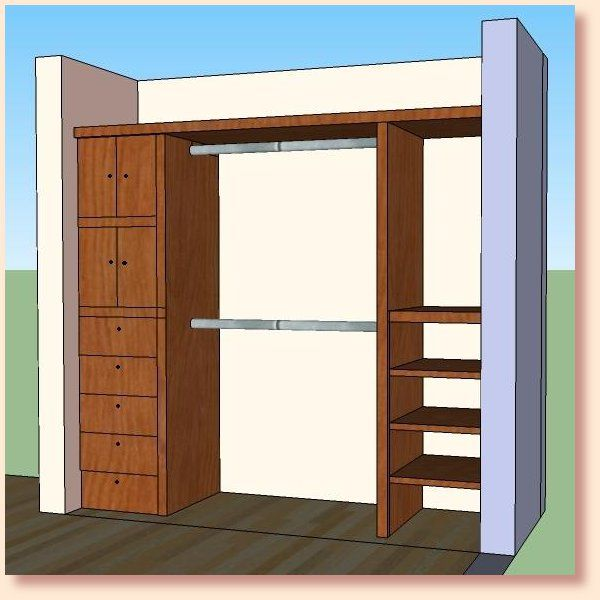 Closet modelos de closets house projects pinterest for Modelos de closets