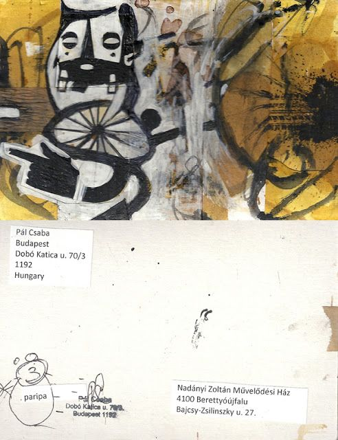 Mail art from Pál Csaba: Pál Csaba, mail art, Hungary, szamár, kecske, pari...