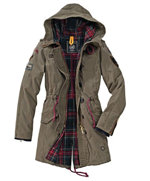 blonde no 8 parka patches tailliert vintage look casual fashion. Black Bedroom Furniture Sets. Home Design Ideas