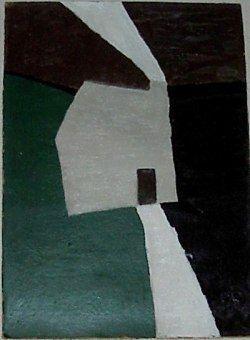 'Cottage, Smoking Chimney' by Francis Davison