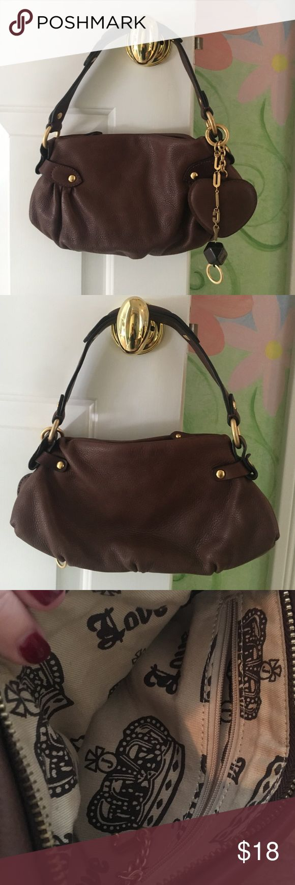 Juicy Couture mini shoulder bag Juicy Couture mini shoulder bag in brown leather with gold hardware and zip closure. 100% genuine leather! Used once! Juicy Couture Bags Mini Bags