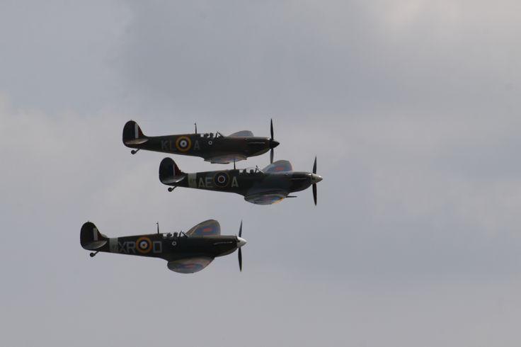 Spitfires at Duxford air show 2013