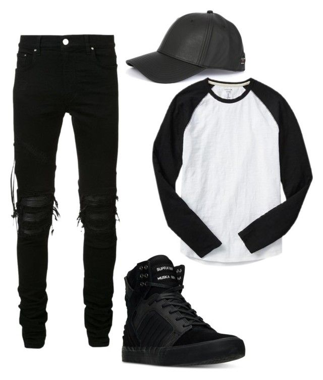 Outfit for boyfriend ♡ by camibg on Polyvore featuring polyvore fashion style AMIRI Gap Supra rag & bone clothing